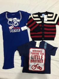 Brand new 3 pc size 6-9 baby clothes by Children's Place