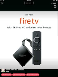 black Amazon Fire TV Stick with Alexa Voice Remote Sterling, 20164