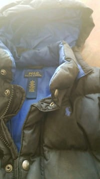 blue and gray zip-up hoodie 43 km