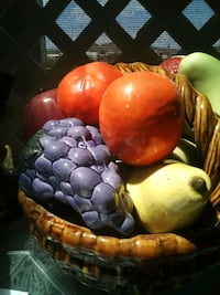 Ceramic basket of fruit
