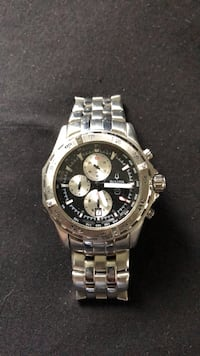 round silver-colored chronograph watch with link bracelet DeBary, 32713