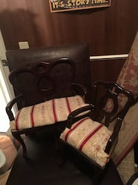 Black and brown wooden armchair It's for some dolls or a doll house White Settlement, 76108