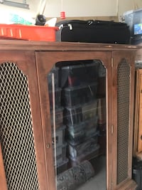 brown wooden framed glass cabinet Alexandria, 22311