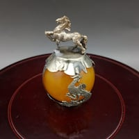 Beeswax Carved Horse Zodiac Pendant/ Decoration/ Paper Weight Ajax