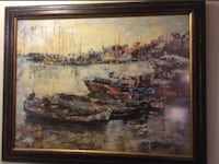 beautiful painting of boats