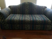Green and blue floral fabric sofa Fort Washington, 20744