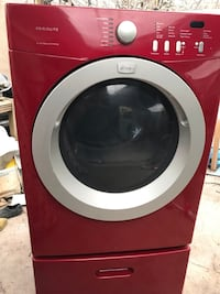 Red front load clothes gas dryer machine  North Las Vegas, 89030
