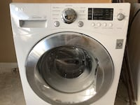 White lg front-load clothes washer and dryer combo Toronto, M3H 2S9