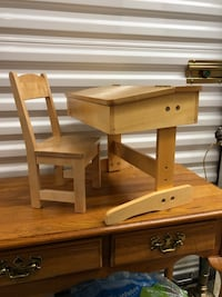 """My Twinn"" wooden school desk and chair"