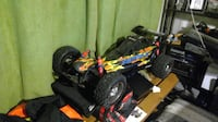 black and red RC car