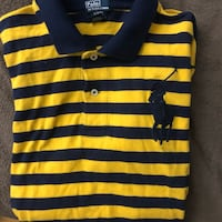 Black and yellow stripe polo shirt Montréal, H3H 2L8
