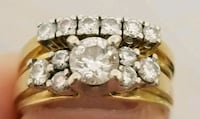14k yellow gold and diamond wedding set Toronto, M1J 1G3