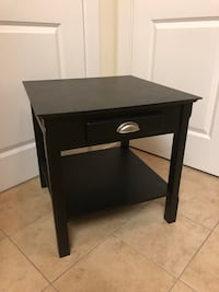 black wooden single drawer side table Alexandria, 22314