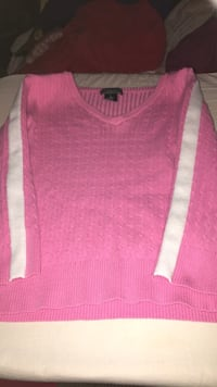 pink v-neck knitted sweater Gaithersburg, 20879