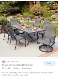 Campbell 7-piece Sling Dining Set Outdoor Dining Clifton, 20124