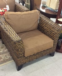 Wicker Chair W/Cushions