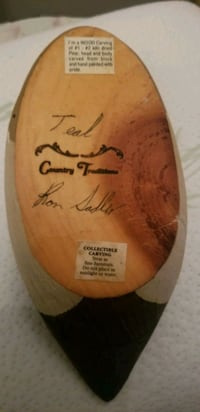 Country Traditions carved Teal