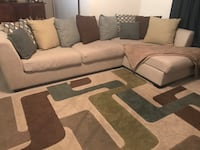 Cream sectional couch with rug Fairfax, 22030