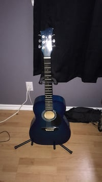 blue and black acoustic guitar 759 km