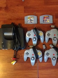 Nintendo 64 console with controller and game cartridges Brampton, L6S 2T7