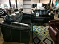 Leather couch and love seat set  Pineville, 28134