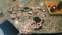 Rose Gold & Black photo booth props