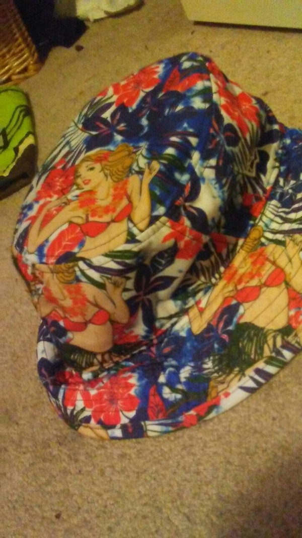 3813be471c6 Used multi-colored floral bucket hat for sale in Edmonton - letgo