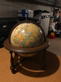 Globe with wood stand