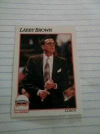 NBA LEGEND COACH LARRY BROWN card Washington