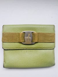green and brown leather wallet Auckland, 1010