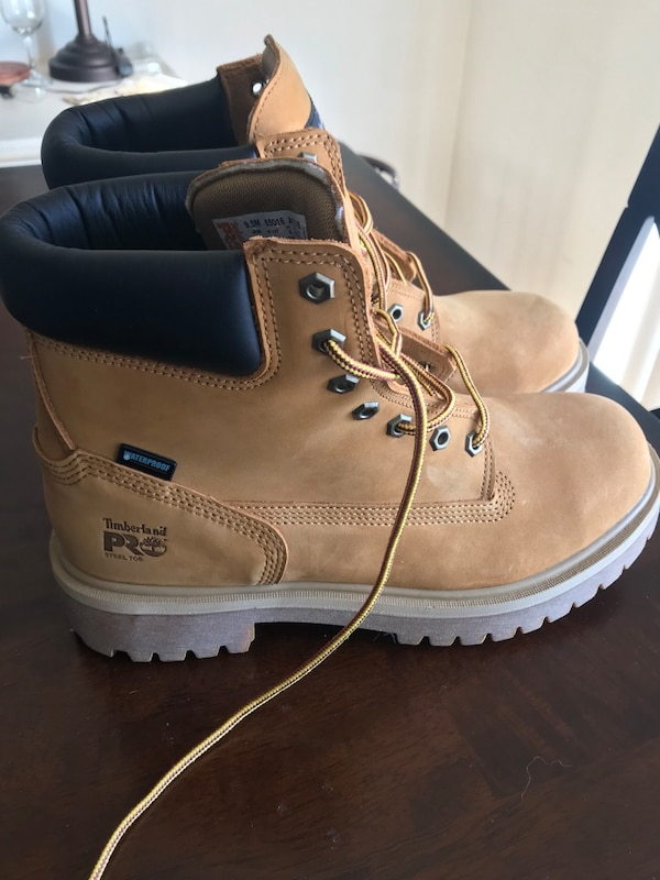 Timberland Pro Steel-toe work boots size 9 1/2. Never worn. I can't return them bc I bought them at work
