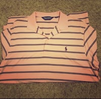 Pink and brown stripe ralph lauren polo shirt Jackson, 39202