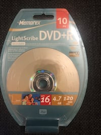 Recordable DVDs still in package