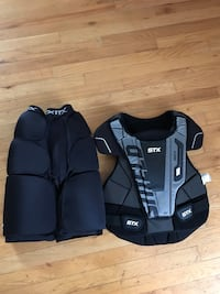 lacrosse chest and thigh padding