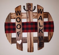 Rustic Dog Wall Hanging Organizer! Barrie