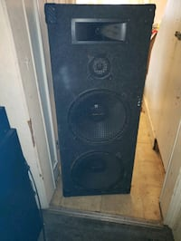 black and gray subwoofer speaker Lancaster, 17603