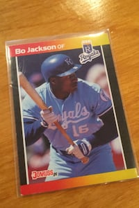 1988 Donruss Bo Jackson Kansas City Royals baseball card  Westwood, 02090