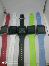 five assorted color smart watches 3160 km