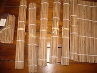 New. Very cool bamboo placemats, coasters and runner set Toronto, M6G 3A5