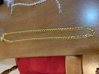 18K gold plated necklace stamped Omaha, 68131