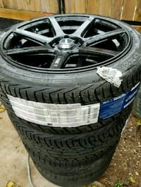 Rims 17 set tires 215/40ZR17 gomas 98% Hyattsville, 20783