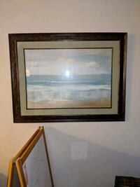 brown wooden framed painting of river Barrie, L4N 1B7