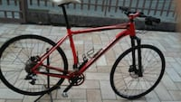 mountain bike rossa e nera hardtail 6773 km
