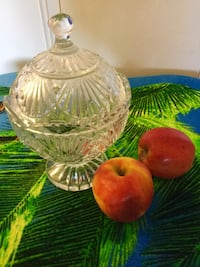 Shannon Crystal bowl with lid  / For home decor & candy dish  Alexandria, 22311