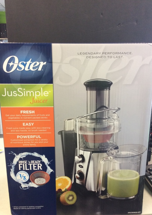 Oster Jus Simple Juicer Brand New! a2ac9b4e-d5a2-4df5-9061-fd71c657c482