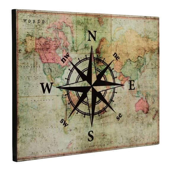 Map with Compass Picture