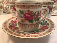 white and red floral ceramic teacup with saucer Tampa, 33612