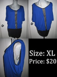 XL Blue Top Mesh in the middle on front & back Sylvan Lake, AB, Canada