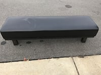 Industrial metal and leather bench 9 km