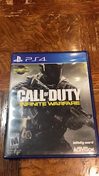 Call of Duty Infinite Warfare PS4 game case Edmonton, T6A 1T9